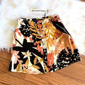 MINKPINK Fever Mini Skirt - Multi Color XXS